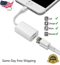 Dual Adapter For iPhone Xs Max Xr XS X 7 8 Plus Splitter Audio Headphone Charge