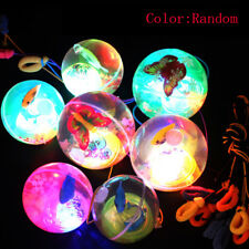 Hot bouncy ball with LED light flashing ball bouncing ball toy for k up