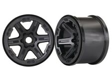 "Traxxas 17mm Splined Hex 3.8"" Monster Truck Wheels (Black) (2) - TRA8671"