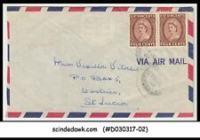 ST. VINCENT - 1962 AIR MAIL envelope to ST. LUCIA with QEII stamps