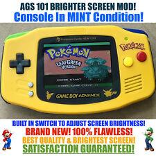 Nintendo Game Boy Advance GBA Pokemon System AGS 101 Brighter Backlit Mod SWITCH