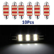 10Pcs x 41mm 4014 12SMD C5W LED Light  Festoon Dome Car License Plate Lamp