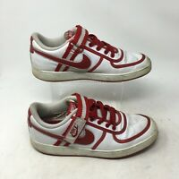 Nike Vandal Low Sneakers Shoes Lace Up Hook & Loop Leather White Red Mens 10.5