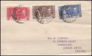 NIGERIA 1937 CORONATION KGVI FDC (ID:563/D5682)