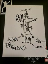 STAYHIGH 149 SIGNED ORIGINAL 9x12 SMOKING SAINT NYC GRAFFITI ART / Cope2 Banksy