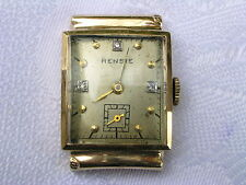 VINTAGE SWISS WOMEN'S 14K YELLOW GOLD RENSIE WRIST WATCH