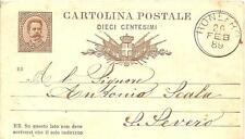 BONEFRO  -  INTERO POSTALE   Viaggiato 1889  -  Mittente : Nicola Giannotti