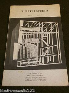 OHIO STATE UNI THEATRE #23 - 1976 - LIFE OF EDWIN FORREST