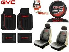 10 PC GMC Elite Seat Covers & Steering Cover & Front/Rear Floor Mats Key Chain