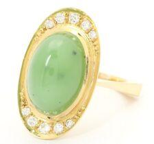 ♦♦18kt 750 Damen Jade Gold Ring Damenring Jadering Goldring Schmuck Jadestein♦♦