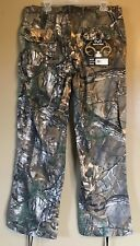 Realtree Women's Side Elastic Waistband Cargo Pants Size Large New with tags