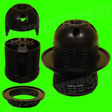 Certificado CE es E27 Rosca (Negro) bombilla LED lámpara de techo titular vendedor Reino Unido.
