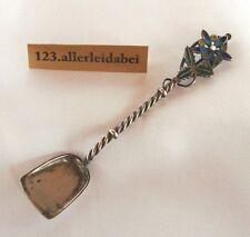 Marius Hammer plique a jour Salzlöffel 930 Silber Emaille Fensteremail Löffel