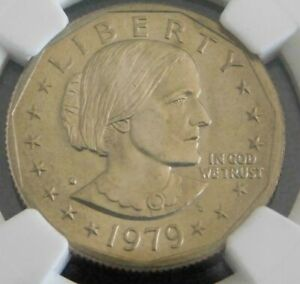 1979-D Susan B Anthony Dollar! NGC Graded MS 66! Some Toning! Beautiful! SBA