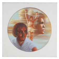 Untitled (Boy Dreaming of Muhammad Ali) By Anthony Sidoni Signed Oil on Canvas