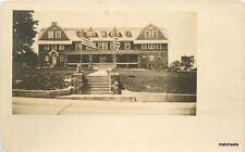 C-1908 Pen-Y-Bryn Hotel New England Flags RPPC real photo postcard 6228