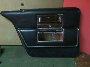 1990 - 1992 Cadillac Fleetwood RWD LH DRIVER REAR interior door panel Black Used
