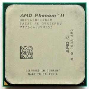 AMD Phenom II X4 945 - 3 GHz Quad-Core (HDX945WFGMBOX) Prozessor