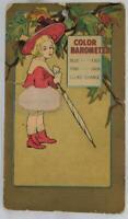 1903 Victorian Girl Color Barometer Card