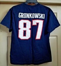 New England Patriots NFL Rob Gronkowski # 87 Blue  T-shirt Youth L