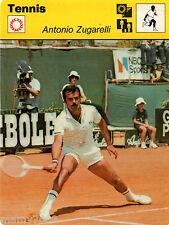 Scheda Rizzoli 1977=TENNIS=Antonio Zugarelli=sul retro la storia e albo d'oro