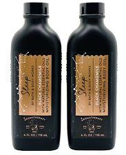 2 Bath Body Works Aromatherapy SLEEP Black Chamomile Moisturizing Body Oil 4 oz
