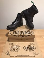 NPS SOLOVAIR Black Scotch Grain Leather 8 Eye Derby Boot! UK11! New!Only£149.90