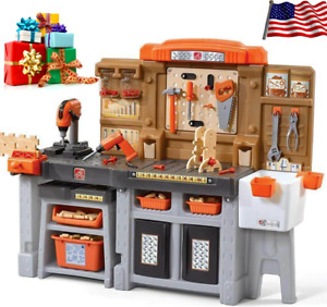 Step2 Kids Toy Pro Play Workshop Utility Workbench Bench with Accessories Set
