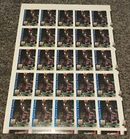 1992-93 NBA Hoops His Ultimate Game Patrick Ewing 25 Card Uncut Sheet Rare!