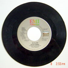 ONE 1984'S 45 R.P.M. RECORD, DAVID BOWIE, BLUE JEAN + DANCING WHIT THE BIG BOYS
