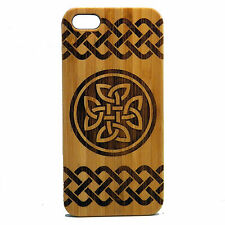 Celtic Knot Case for iPhone 7 Bamboo Wood Phone Cover Irish Dara Quate