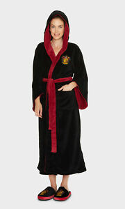 Ladies Harry Potter Gryffindor House Hooded Dressing Gown Robe