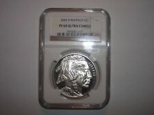 2001-P American Buffalo Silver Commemorative Proof Dollar NGC PF 69 Ultra Cameo