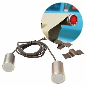 """White 15/16"""" LED Bed Roll Taillight & Turn Signals Kit"""
