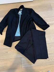Ann Taylor Black Suit Jacket, Pants, And Shirt NWOT