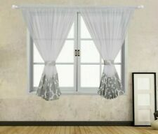 Curtain Window Perspective Voile Living Room Curtains Geometric Sheer Decoration
