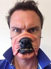 Dog Mask Funny Half Face Animal Bulldog Fancy Dress Party Masquerade