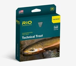 NEW RIO PREMIER TECHNICAL TROUT WF-4-F #4 WT FLOATING FLY LINE SKY IN BLUE/PEACH