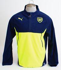 Puma Arsenal Football Club Blue & Yellow 1/4 Zip Training Fleece Men's L NWT