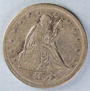 1875 S SEATED LIBERTY TWENTY CENT PIECE *7308