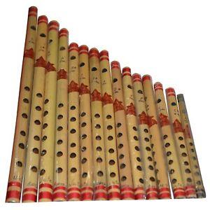 En Bois Handmade Bambou Flûte Indien Beau Bansuri Complet Ensemble De 13 Pièces
