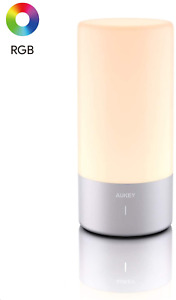 AUKEY Table Lamp Touch Sensor Bedside Lamp Color Changing & Dimmable Warm White