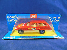Extremely Rare 1976 Corgi Cubs R505 Fire Chief's car Red Bonnet Flaming Decal