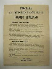 Proclama Vittorio Emanuele II, seconda guerra d'indipendenza,Ticino,Risorgimento