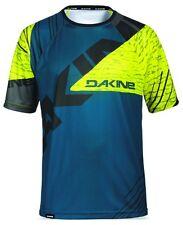 Dakine Thrillium Short Sleeve MTB Bike Cycle Jersey Mens Blue Yellow extra Large