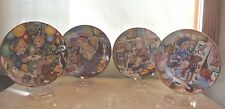 4 Porcelain Collector Plates By Carol Lawson & Franklin Mint