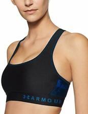 Under Armour Size Small 1307213 009 Blue Mid Cross Back Sports Bra