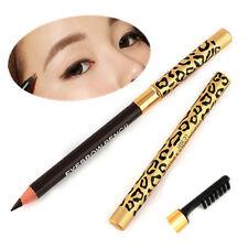 Waterproof Make Up Leopard Longlasting Brown Eyeliner Eyebrow Pencil With Brush
