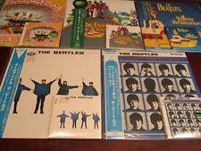 BEATLES 5 JAPAN EMI/TOSHIBA PRESSED OBI RARE 2003 LP SOUNDTRACK SET + 5 CD SET