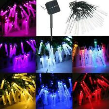 4.8M 20 LED Bubble Icicle Fairy String Light Solar Power Christmas Party